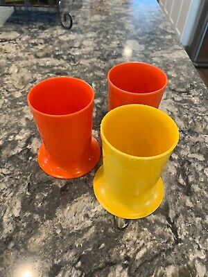 Tupperware Vintage Spill Proof Cups - Lot Of 3