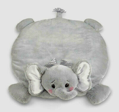 NWT Bearington Baby Lil Spout Belly Blanket Gray Elephant Floor Time Shower Gift