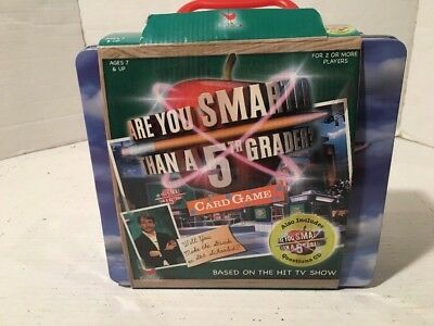 NEW Are You Smarter Than A 5th Grader Game In Lunch Box Cards Toy