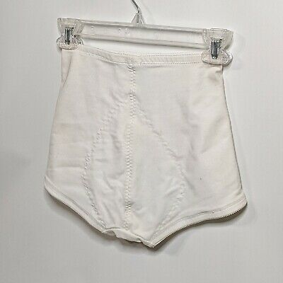 NOS Vintage Seamed Gusset Panty Girdle by Hold Me Tight- White USA Made M-28