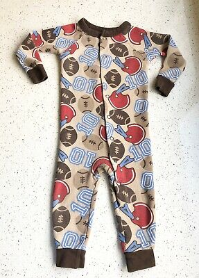 18 Month Baby Boy Infant Thermal Pajamas Sports Button Up Carter's Brand