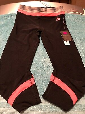 RBX(part of Reebok)active Leggings Black,gray And Pink Size 12 In Girls