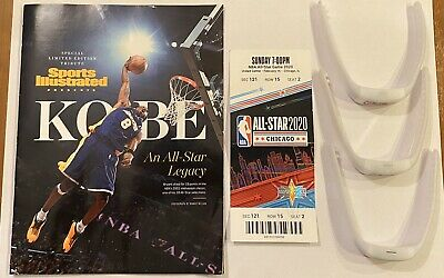 2020 NBA All Star Game Ticket, SI Kobe Bryant Tribute, and 3 Wristbands