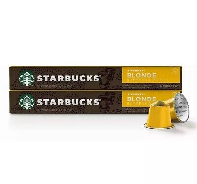 Starbucks Blonde Espresso Roast by Nespresso 30 pods (3 sleeves of 10 capsules)
