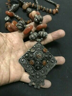 Lovely Ottoman Sultana Jewelry Ancient Antique Carnelian Stone Bead Necklace OT6