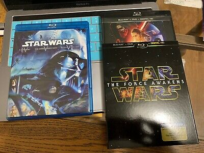 Star Wars Original Trilogy Blu-ray Set & Episode VII The Force Awakens Blu-ray