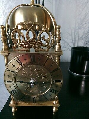 Vintage brass English Domed Lantern mantle/carriage clock by Smith Industries