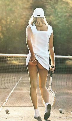 Framed Print - Iconic Poster Tennis Girl Scratching Her Bum (Classic Picture)