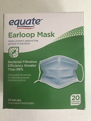 200 Medical Earloop Face Mask Disposable Equate Infection Flu Control antiviral