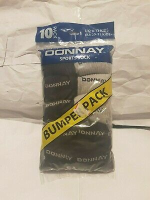 kids 10 pack Donnay socks new in pack size 8-13 kids