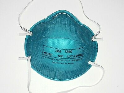 3M Personal Respirators Surgical Masks 1860 N95 *ONE MASK ONLY / SINGLE MASK*
