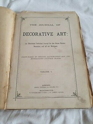 """Rare Old """"The Journal of Decorative Art"""" Vol I 1881 - House Painter,  Decorator"""