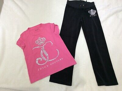Girls Juicy Couture velvet bottoms & T Shirt Age 7 Years