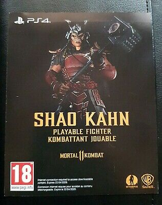 Mortal Kombat 11 - PS4 DLC - SHAO KAHN PLAYABLE FIGHTER ONLY- NOT FULL GAME