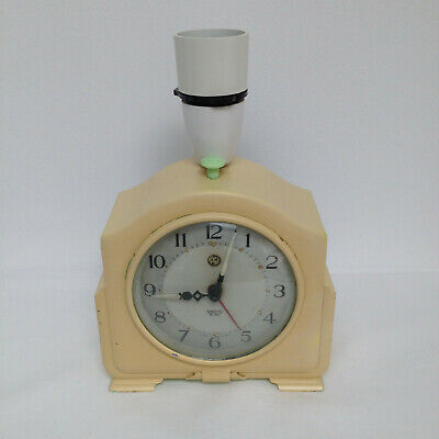 Rare Smiths Sectric Bakelite Electric Alarm Clock Bedside Table Lamp Model CA