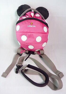 LittleLife Disney Minnie Mouse Backpack Rucksack Safety Harness Reins Pink