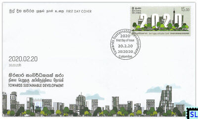 Sri Lanka Stamps 2020, Towards Sustainable Development, FDC