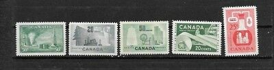 pk48443:Stamps-Canada Lot of 5  Assorted Older Better Value Issues-MNH