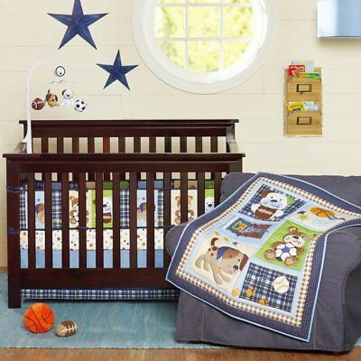 7Pcs Baby Crib Cot Set Bumper Sheet Blanket Cover Breathable Comfy Bed