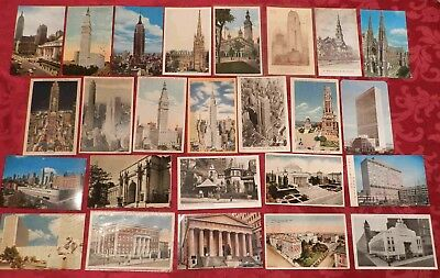 Lot of 25 Postcards (Lot 365) New York City Architecture, Buildings