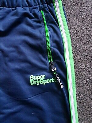 Superdry Sport Tech Tricot Joggers Size Medium VGC