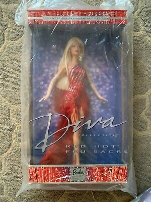 BRAND NEW NRFB MATTEL Barbie Doll Diva Collection Red Hot