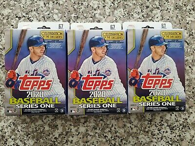 3 2020 Topps Baseball Series 1 Factory Sealed 67 Card Hanger Boxes Autos?