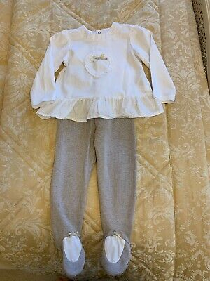 Mayoral Designer Baby Girls Outfit 12 months Top & Leggings New without Tags