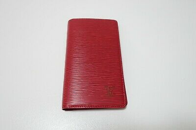 Authentic LOUIS VUITTON Red Epi Agenda Posh Leather Notebook Cover #5237