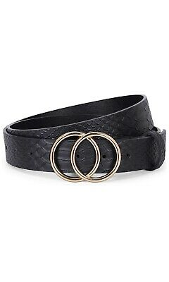 Women's Belt -Classic Double Ring Buckle Handcrafted Genuine Leather Belt