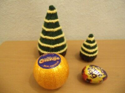 Knitting pattern Tree Chocolate Orange Cover & Creme Egg cover  ideal for Easter