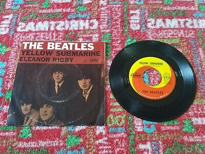 The Beatles 45 record YELLOW SUBMARINE, 1966 Capitol Picture Sleeve