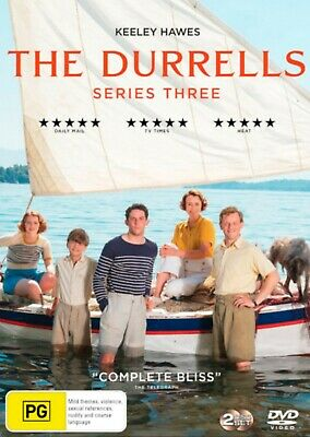 The Durrells Season 3 Series Three (Keeley Hawes) used DVD, Region 4
