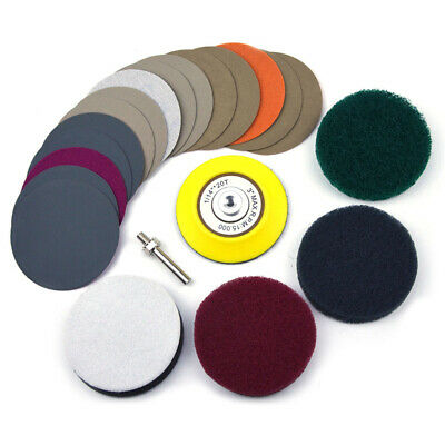 M6 Shank Polishing Set Electric Drill Scouring Pad Sandpapers Sanding Disc Tool