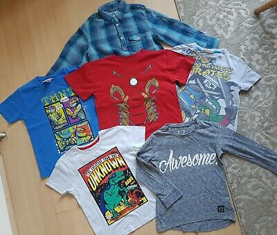 Boys Bundle: ninjago/tmnt/iron man tshirts/shirts/Jeans 5-6years