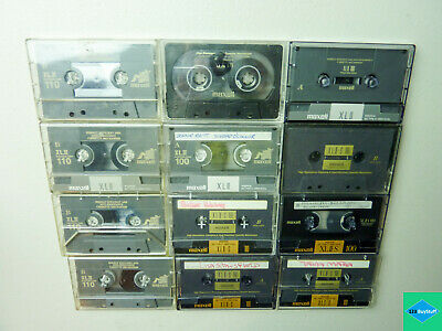 Lot of 12 Maxell XLII 100 & 110 Tapes - Type 2 II - Pre-Owned Sold As Blank
