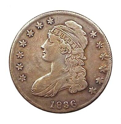 1836 Capped Bust Lettered Edge Half Dollar - VF - Very Nice!