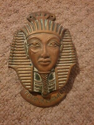 Weathered Brass Door Knocker Tutankhamun