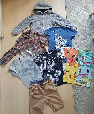 Boys Bundle: Hoodie/shirt/3 Next Tshirts/next Shorts/pokemon Tshirt 7 Years