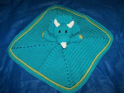 Triceratops Security, Lovey Baby Blanket
