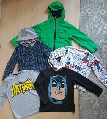 Boys Bundle: Next Jacket/batman Tops/john Lewis Shirt/mario Top 6 Years