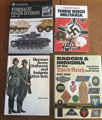 Lot of Four (4) Books on the German Army in WW II Uniforms Equipment insignia