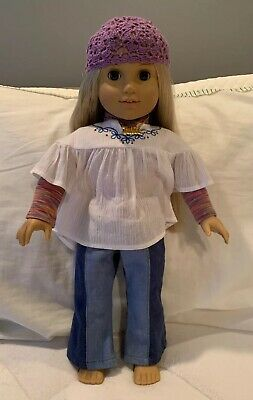 """American Girl Julie Albright 18"""" Doll Meet Outfit No Shoes"""