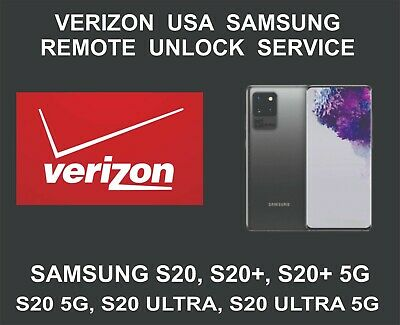 Verizon USA Samsung Remote Network Unlock Service, Samsung S20, S20+, Ultra, 5G