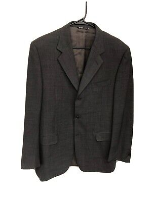 Canali Suit Jacket Blazer 42L Gray Cashmere Blend Italy IJ-3