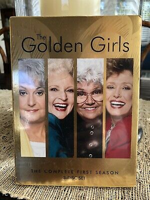 Golden Girls,The Complete First Season 3-Disc Set,New In Original Pkg/Cellophane