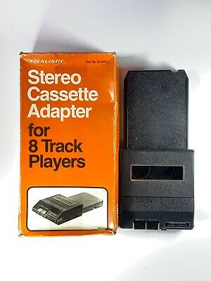 Vintage Realistic Stereo Cassette Adapter for All 8 Track Players Model 12-1875a