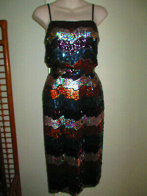 Stunning vintage sequined silk two-piece outfit