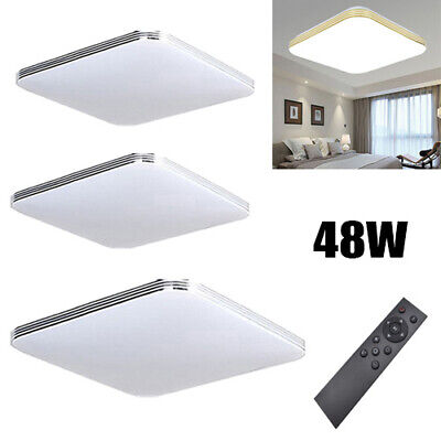 3X LED Ceiling Light Dimmable Slim 48W Hallway Remote Control Living Lamp