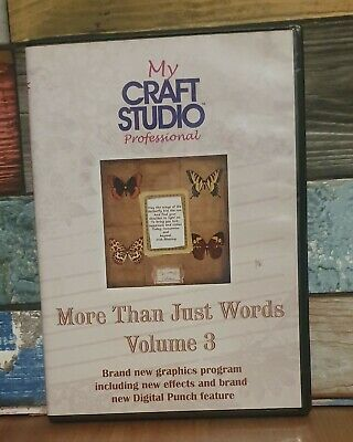 More Than Just Words Volume 3 CD ROM Papercrafting Card Making My Craft Studio